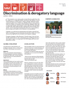 Discrimination & derogatory language